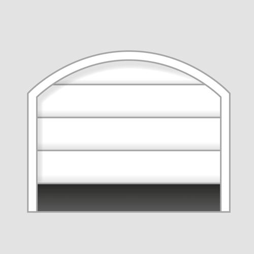 секционна врата със свод