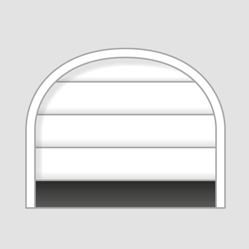 секционна врата с арка